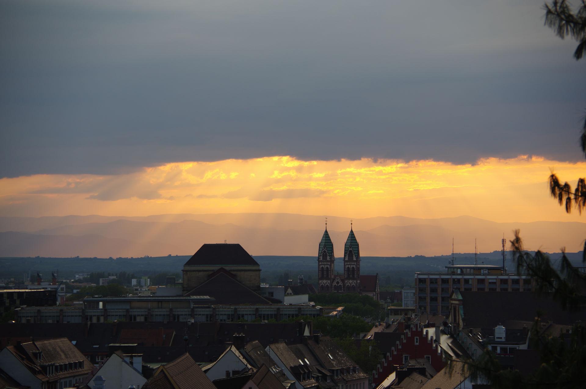 Tyskland 17.-19. august - Freiburg og videre mod Frankrig