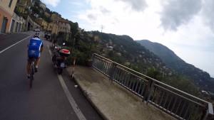 chasing bikers